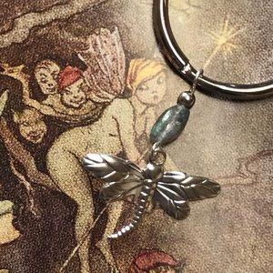 Casey Keith Design Accessories - Labradorite Dragonfly Keychain